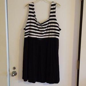 Torrid Cute Black and White Dress